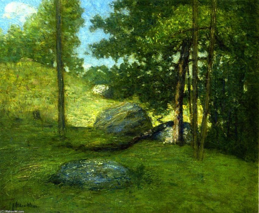 famous painting New England Meadow of Julian Alden Weir
