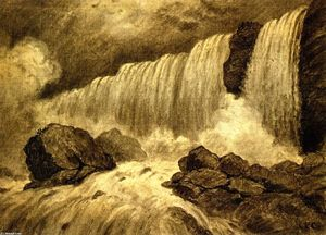 Christopher Pearse Cranch - Niagara (also known as American Falls)
