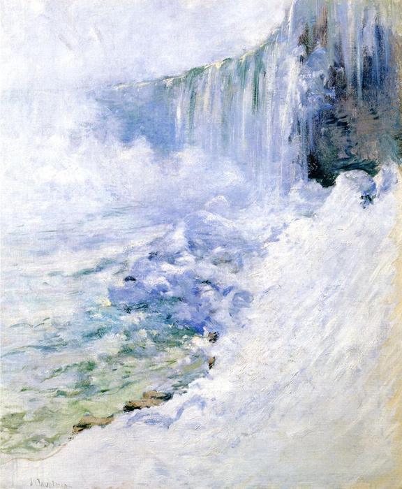 famous painting Niagara in Winter of John Henry Twachtman