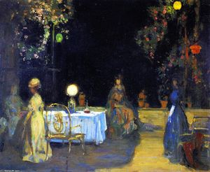 Charles Edward Conder - Night in the Garden in Spain