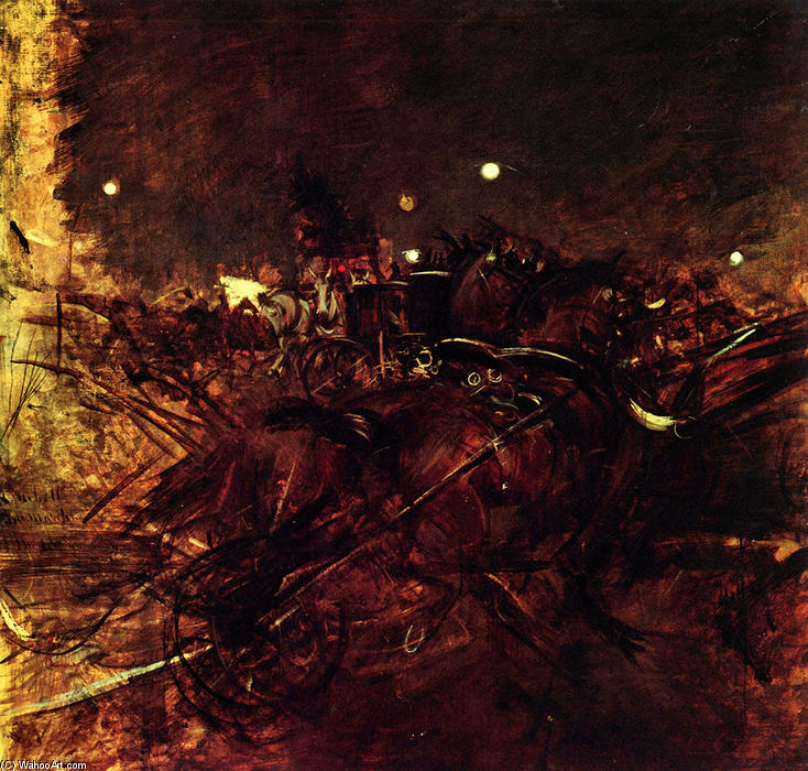 famous painting Night on Montmartre of Giovanni Boldini