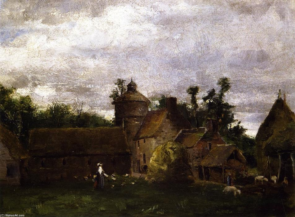 famous painting Normandy Farm of Julian Alden Weir