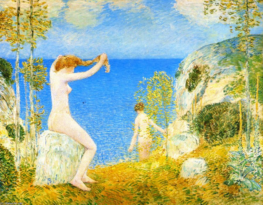 famous painting Nudes at the Cove of Frederick Childe Hassam