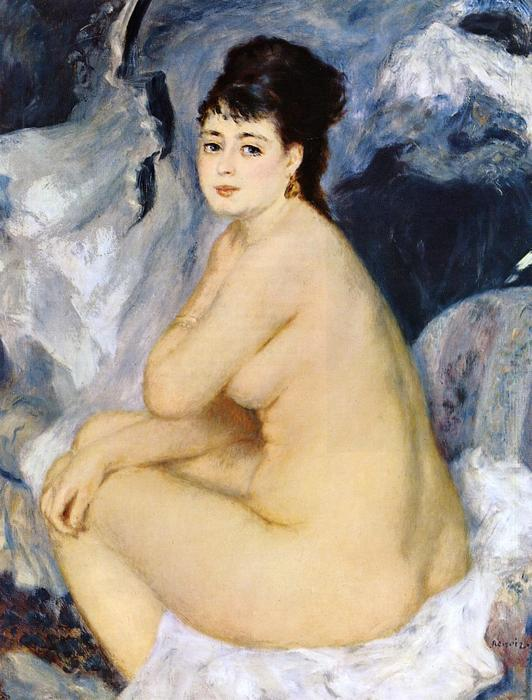 famous painting Nude Seated on a Sofa of Pierre-Auguste Renoir