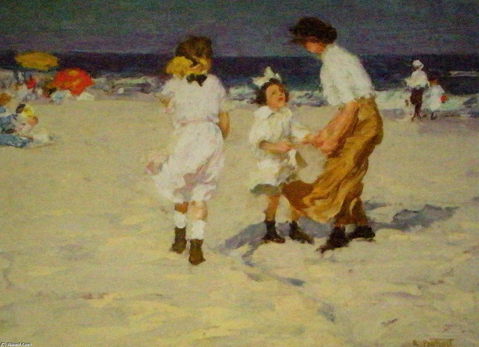 famous painting Ocean Breezes of Edward Henry Potthast