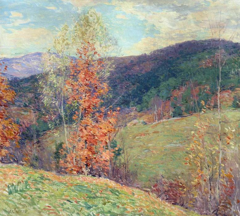 famous painting October Afternoon, Vermont of Willard Leroy Metcalf