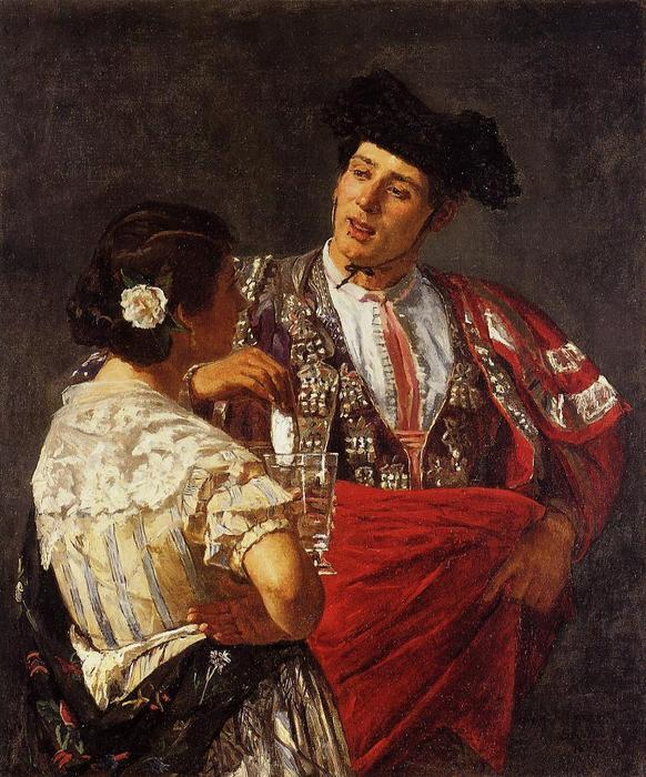 famous painting Offering the Panel to the Bullfighter of Mary Stevenson Cassatt