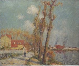 Gustave Loiseau - The Oise at Pontoise