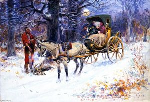 Charles Marion Russell - Old Christmas in New England