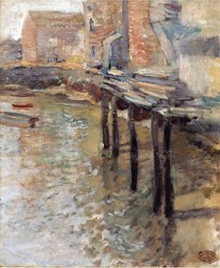 John Henry Twachtman - The Old Mill at Cos Cob