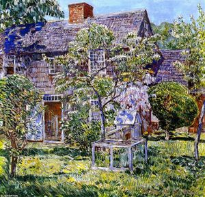 Frederick Childe Hassam - Old Mulford House, East Hampton