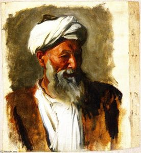 John Singer Sargent - Old Man with a White Turban