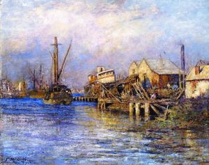 Frederick Mccubbin - The Old Slip, Williamstown