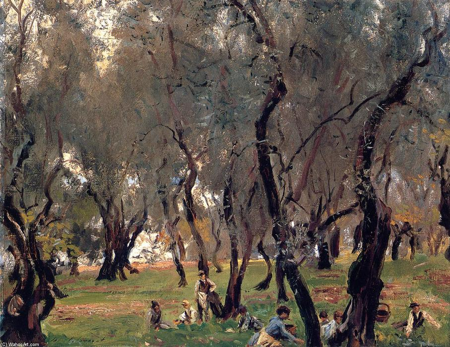 famous painting The Olive Grove of John Singer Sargent