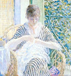Frederick Carl Frieseke - On the Balcony