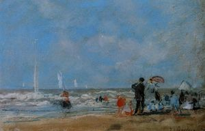 Eugène Louis Boudin - On the Beach