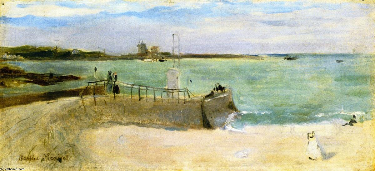 famous painting On the Beach of Berthe Morisot
