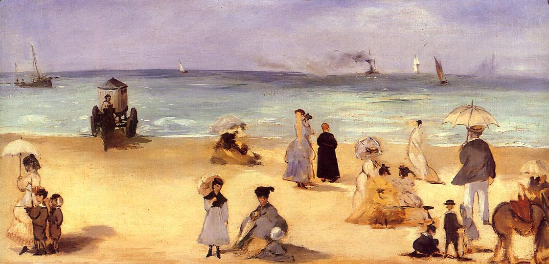 famous painting On the Beach at Boulogne of Edouard Manet