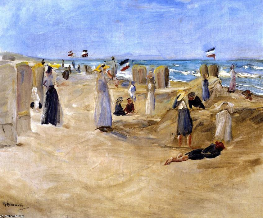 famous painting On the Beach at Noordwijk of Max Liebermann