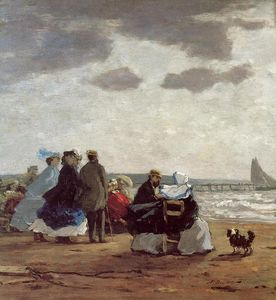 Eugène Louis Boudin - On the Beach, Dieppe