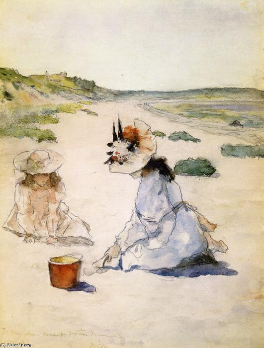 famous painting On the Beach, Shinnecock of William Merritt Chase