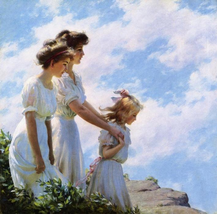famous painting On the Cliff of Charles Courtney Curran