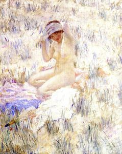 Frederick Carl Frieseke - On the Dunes
