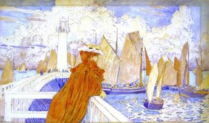 Theo Van Rysselberghe - On the Jetty