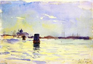 John Singer Sargent - On the Lagoons, Venice (also known as View from the Bacino, S. Giorgio Maggiore to the Left, Venice)