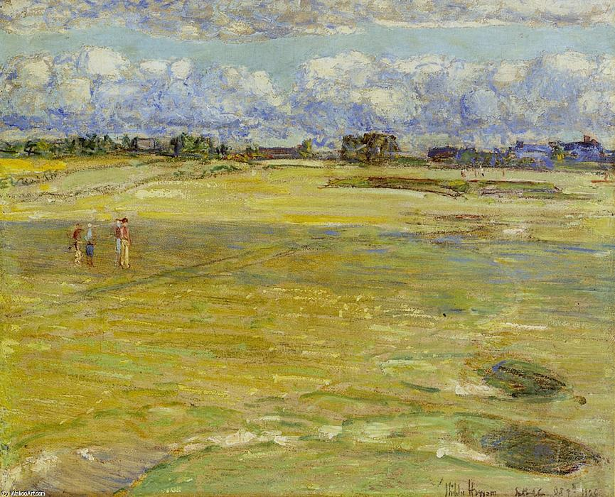 famous painting On the Links of Frederick Childe Hassam