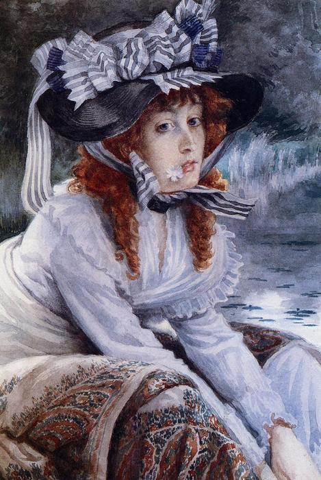 famous painting On the River of James Jacques Joseph Tissot