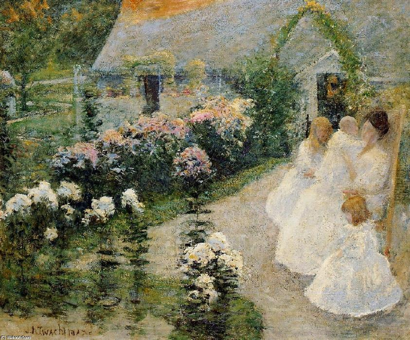 famous painting On the Terrace of John Henry Twachtman