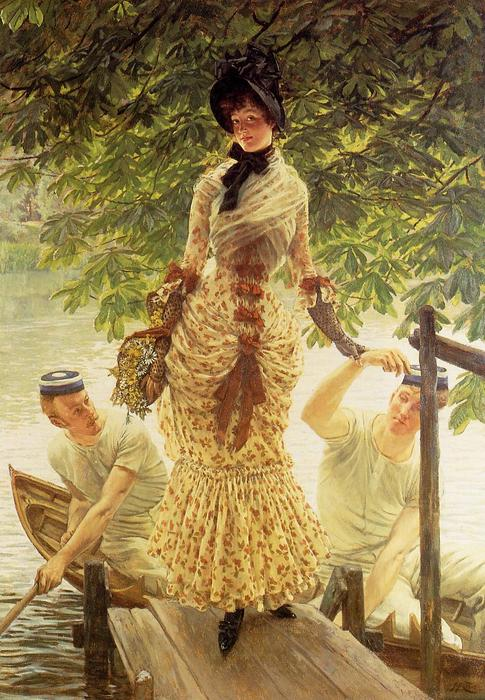 famous painting On the Thames (also known as Return from Henley) of James Jacques Joseph Tissot