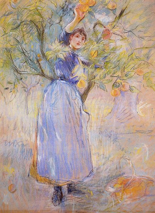 famous painting The Orange Picker of Berthe Morisot