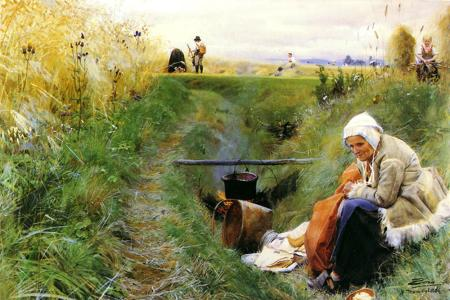 famous painting Our Daily Bread of Anders Zorn