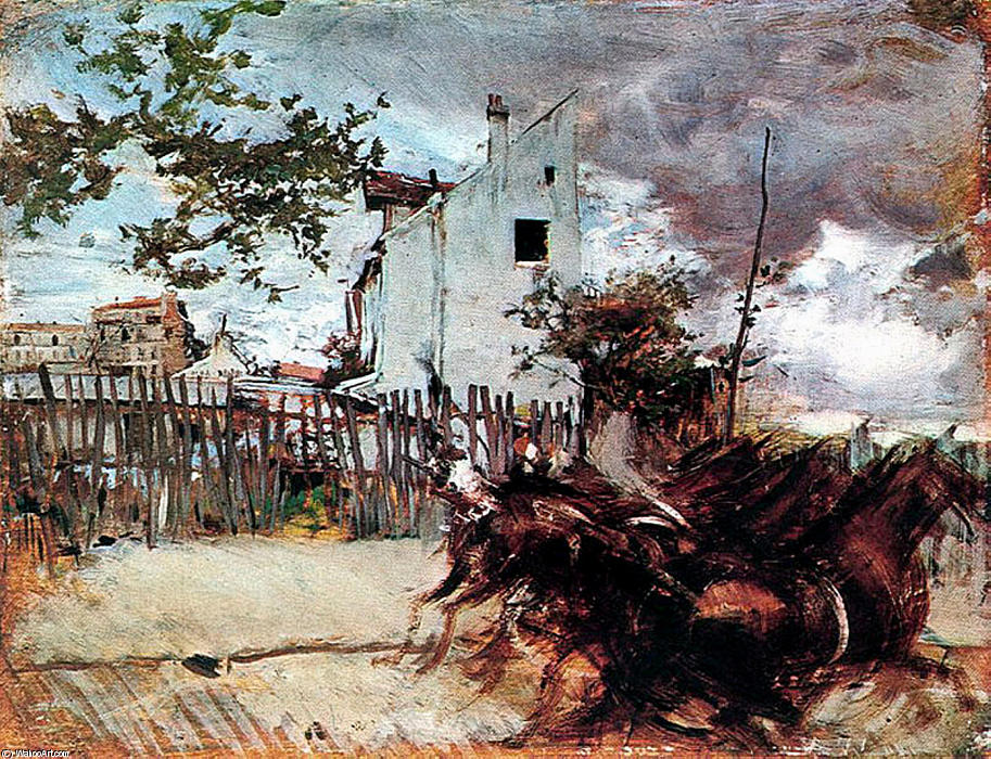 famous painting Outskirts of Paris of Giovanni Boldini