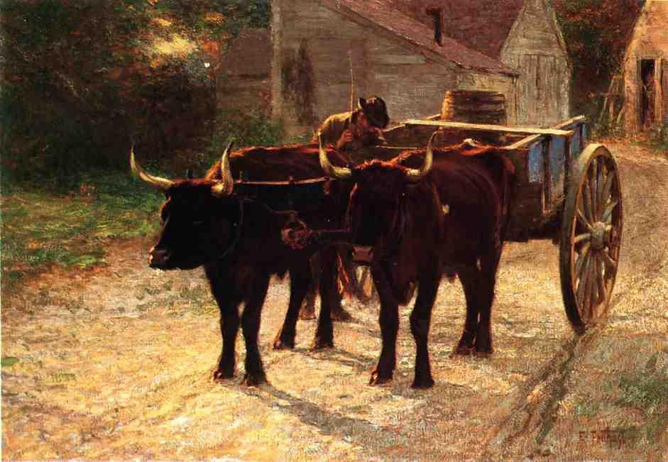 famous painting The Ox Cart of Edward Henry Potthast