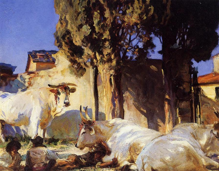 famous painting Oxen Resting of John Singer Sargent