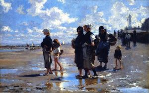 John Singer Sargent - The Oyster Gatherers of Cancale