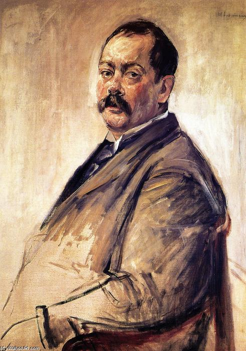 famous painting The Painter Lovis Corinth of Max Liebermann