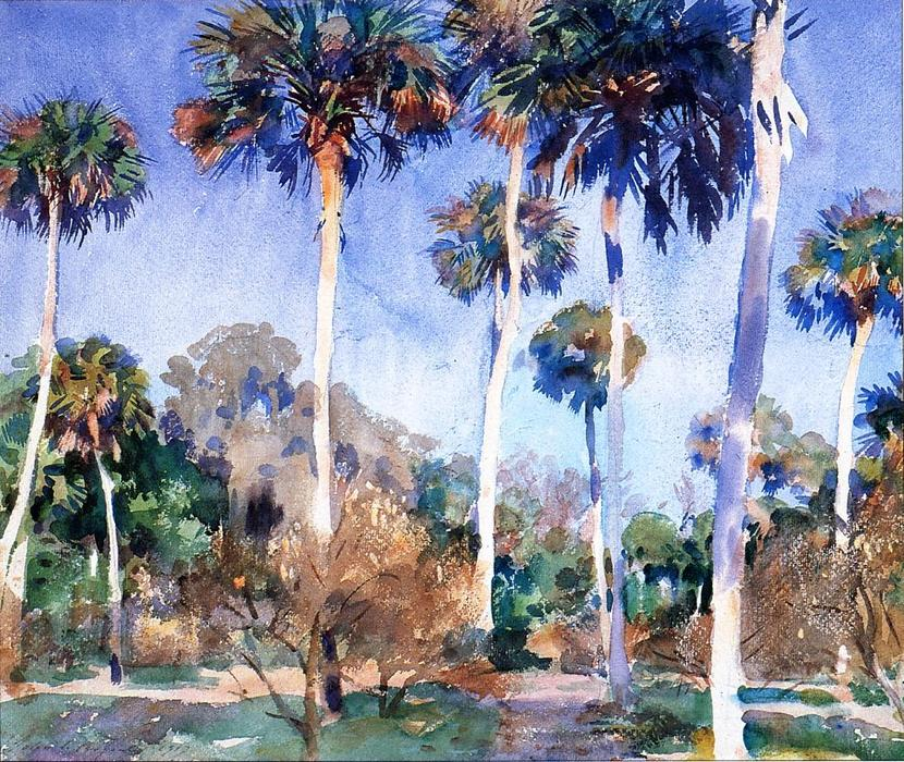 famous painting Palms of John Singer Sargent