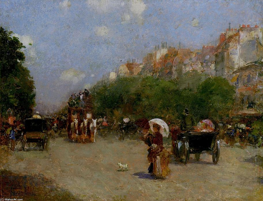 famous painting Paris Street Scene of Frederick Childe Hassam