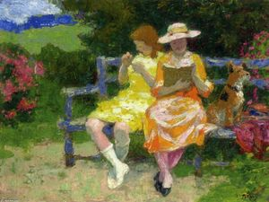 Edward Henry Potthast - Park Bench