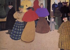 Felix Vallotton - Passerby (also known as Street Scene)