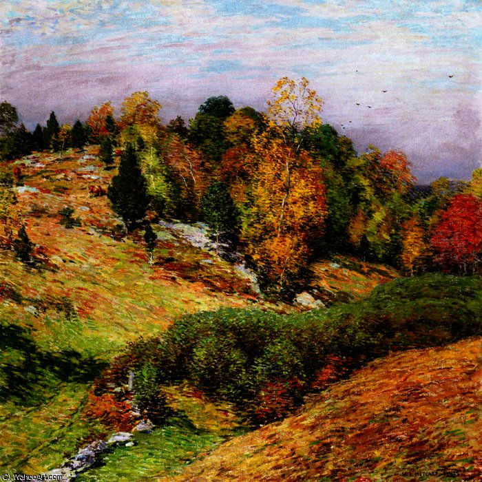 famous painting The Passing Glory of Willard Leroy Metcalf
