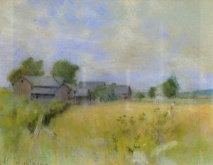 John Henry Twachtman - Pasture with Barns, Cos Cob