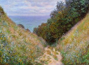 Claude Monet - The Path at La Cavee, Pourville