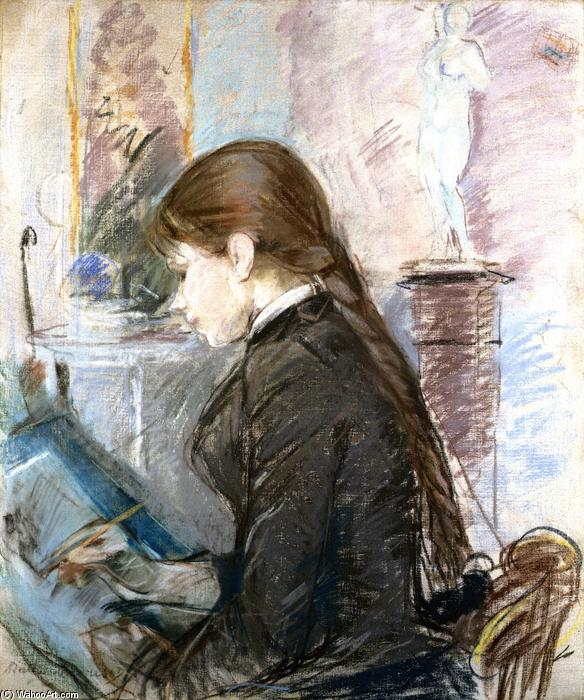 famous painting Paule Gobillard Drawing of Berthe Morisot