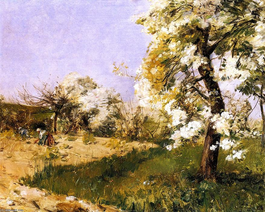 famous painting Pear Blossoms of Frederick Childe Hassam