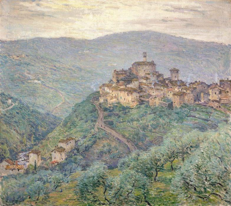 famous painting Pelago, Tuscany of Willard Leroy Metcalf